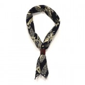 A Piece of Chic Japanese Cotton Bandana Dark Navy/Cream