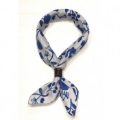 A Piece of Chic Japanese Cotton Bandana Floral Blue