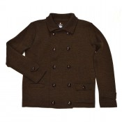 A Piece of Chic Pilot Cardigan Chestnut