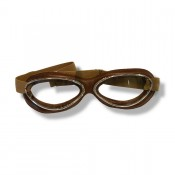 Aviator Goggle Retro Standard, Rahmen: chrome/brown leather