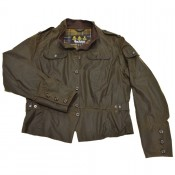 Barbour Short Shape Peplum Biker olive