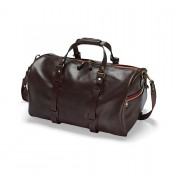 Croots Vintage Leather Duffle Hodall Dark Brown