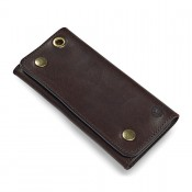 Croots Vintage Leather Worker Wallet Dark Brown
