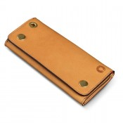 Croots Vintage Leather Worker Wallet Natural