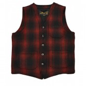 "Pike Brothers ""1937 Roamer Vest"" Red/Check Wool"