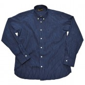 Pike Brothers 1957 Button Down Shirt, Blue Striped