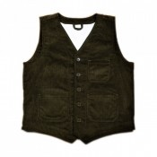 Pike Brothers Roamer Vest heavy cord, brown