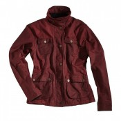 "ROKKER ""Wax Cotton Jacket Lady"" Red"