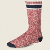 Red Wing Ragg Wool Stripe Socks Red