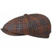 Stetson Hatteras Vigin Wool Silk Check