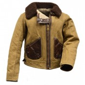 Thedi Leathers Canvas/Shearling