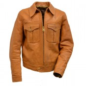 "Thedi Leathers ""Horsehide Jacket"" Tan"