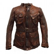 Thedi Leathers Long Jacket brown