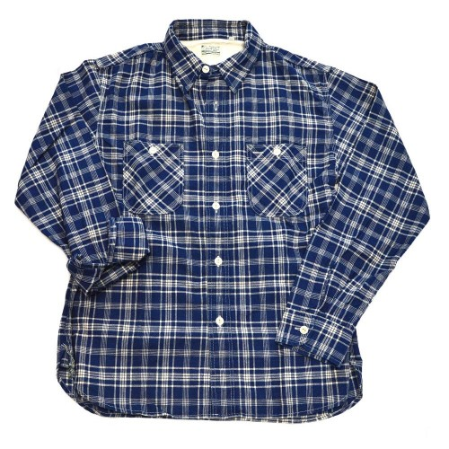 Burgus Plus Indigo Check Shirt