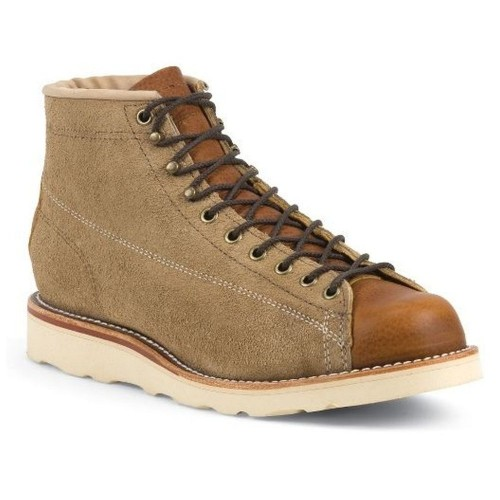 CHIPPEWA Lace to Toe  Khaki Suede