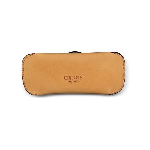Croots Vintage Leather Glasses Case Natural