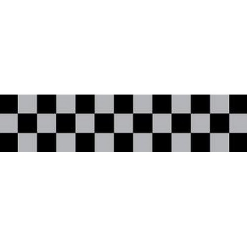 DAVIDA Chequered Tape black/silver