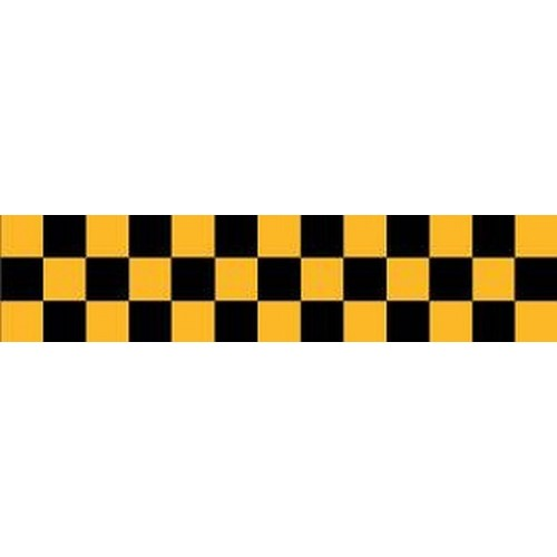 DAVIDA Chequered Tape black/yellow