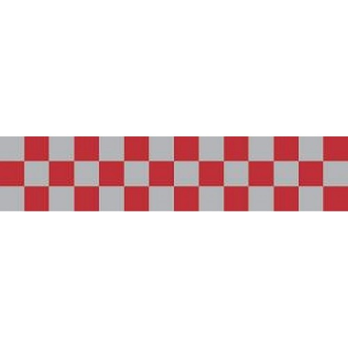 DAVIDA Chequered Tape red/silver