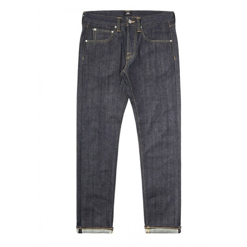 ED-55 Regular Tapered Jeans Red Listed Selvage Denim Unwashed
