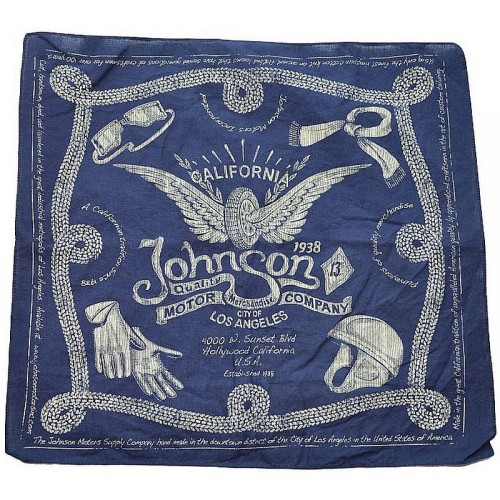 Johnson Motors Bandana navy