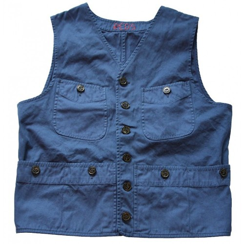 REDS Dale Waistcoat Oxford Blue