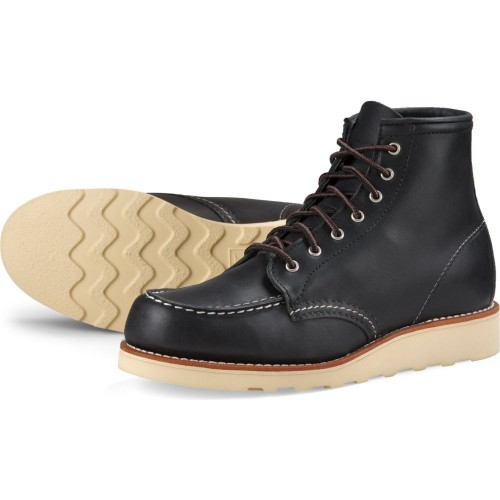 Red Wing Moc Toe 6 inch Black Boundarie Ladies