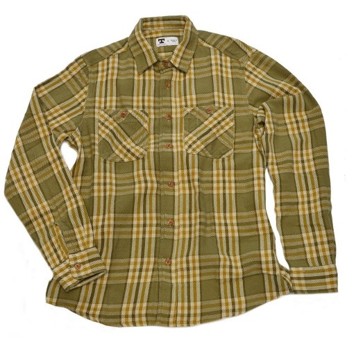 Tellason Utility Shirt Flannel, green/brown