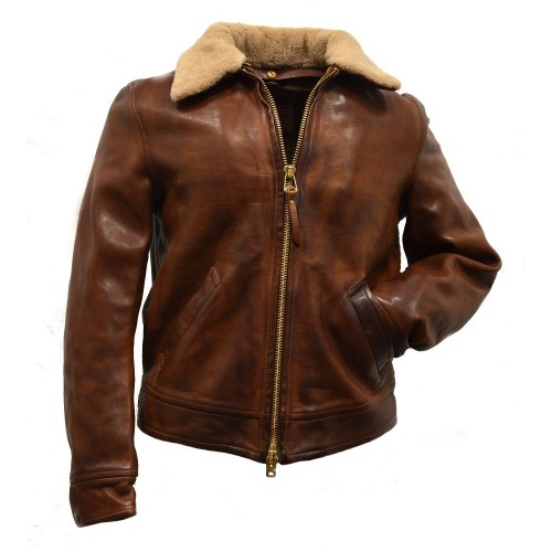 Thedi Leathers Brown Cowhide Jacket